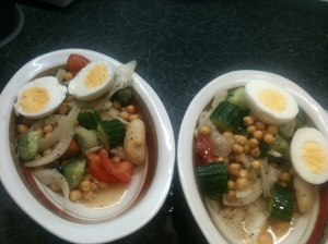 Quick Egg and ChickPeas Salad